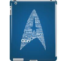Star Trek The Original Series typography (blue) iPad Case/Skin