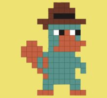 Pixel Perry the Platypus One Piece - Short Sleeve