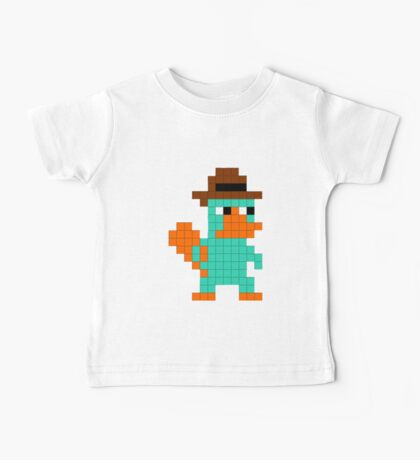 Pixel Perry the Platypus Baby Tee