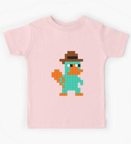 Pixel Perry the Platypus Kids Tee