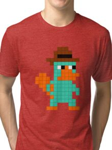 Pixel Perry the Platypus Tri-blend T-Shirt