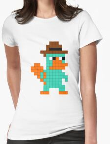 Pixel Perry the Platypus Womens Fitted T-Shirt