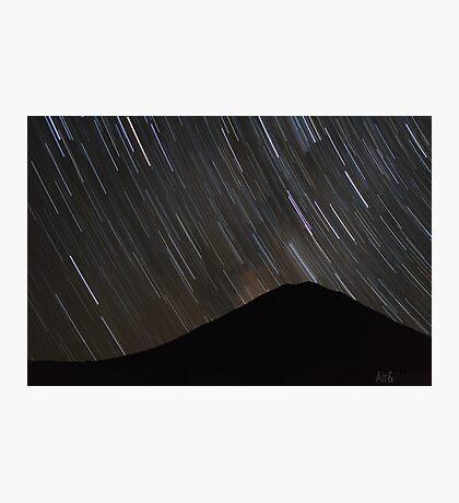 The stars wheel over Mt. Doom Photographic Print