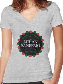 Milan San Remo Women's Fitted V-Neck T-Shirt