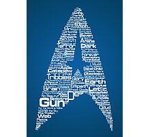 Star Trek The Original Series typography (blue) Photographic Print