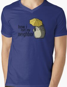 How I Met My Neighbor Mens V-Neck T-Shirt