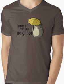 How I Met My Neighbor Mens V-Neck T-Shirt