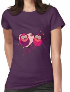 Lovely Owls Womens Fitted T-Shirt