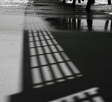 Pier Shadows by Carol Bailey White