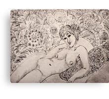 Modigliani Etching Canvas Print