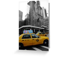 Yellow taxi Greeting Card