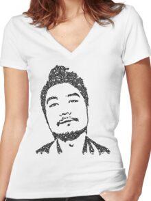 Dumbfoundead Portrait Women's Fitted V-Neck T-Shirt