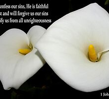 calla lilies with 1john 1:9 by dedmanshootn