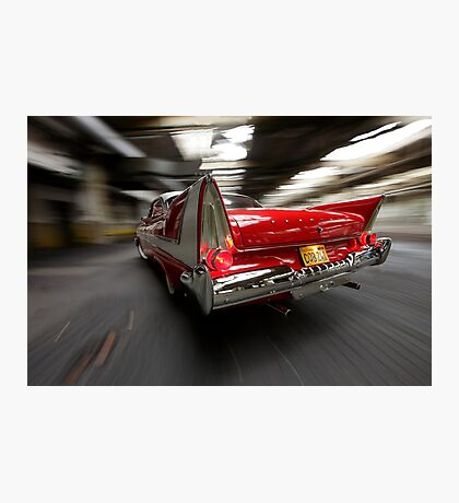 """Christine"", the Plymouth Fury from the movie of John Carpenter Photographic Print"