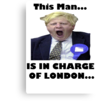BORIS JOHNSON YAWN Canvas Print