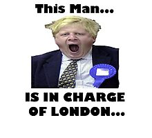 BORIS JOHNSON YAWN Photographic Print