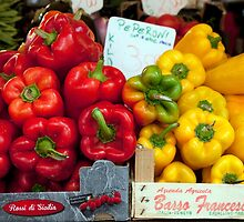 Red And Yellow Peppers by phil decocco