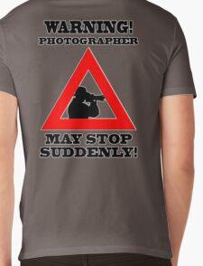 Warning! Photographer Mens V-Neck T-Shirt