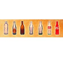 Te evolution of the bottle Photographic Print