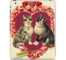 Vintage Two Kittens and a Cupid Heart - iPad Case iPad Case/Skin