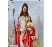 Vintage Jesus Christ Holding a Lamb - iPad Case iPad Case/Skin