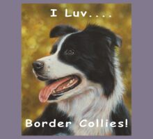 I luv Border Collies! Kids Tee