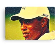 tiger woods 2 crayons Canvas Print