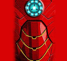 Steampunk Arc Reactor 2 With Red Armor - Apple iPhone 5, iphone 4 4s, iPhone 3Gs, iPod Touch 4g, iPad 2, iPad 3 case by pointsalestore Corps