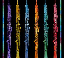 Rainbow of Oboes by PaintboxCollage