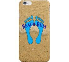 Beach Bum on Beach iPhone Case/Skin