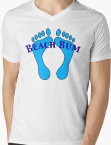 Beach Bum Mens V-Neck T-Shirt