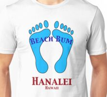 Beach Bum in Hanalei Hawaii Unisex T-Shirt
