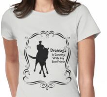 Dressage Is Dancing Horse Silhouette  Womens Fitted T-Shirt