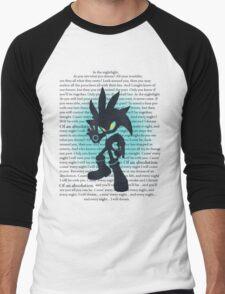Silver the Hedgehog Lyrics Men's Baseball ¾ T-Shirt