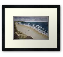 Bass coast hikers Framed Print