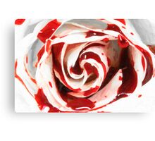 white in red Canvas Print