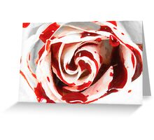 white in red Greeting Card
