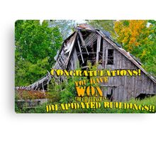 Dilapidated Buildings Banner Canvas Print