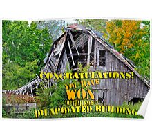 Dilapidated Buildings Banner Poster