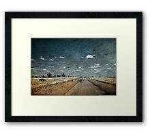 Road To Moulamein Framed Print