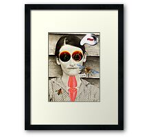 No time for thinking, kids! Framed Print