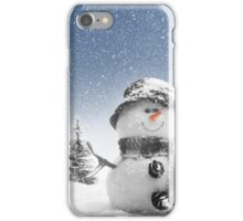 Holiday Christmas snowman iPhone Case/Skin