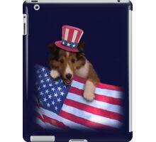 Patriotic Sheltie Puppy iPad Case/Skin