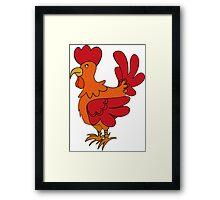 Red Chicken Framed Print