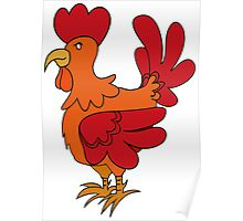 Red Chicken Poster