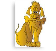 Gold Dog Canvas Print
