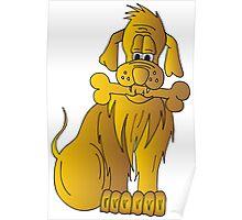 Gold Dog Poster