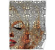 Marilyn Monroe - Sigh - Stone Rock'd Art By Sharon Cummings Poster