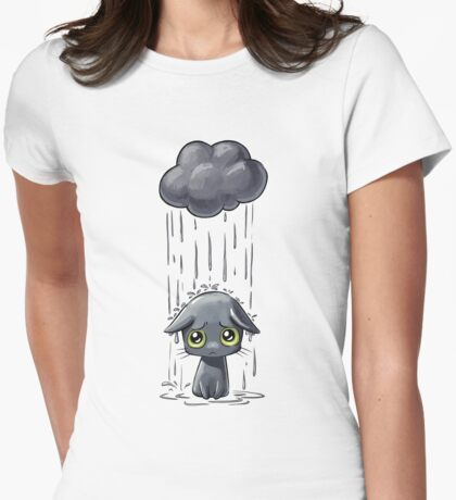 Pouring Womens Fitted T-Shirt