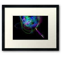 Drawing With Light Framed Print